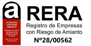 RERA registro de empresas con riesgo de amianto